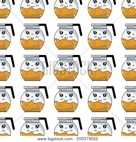 kawaii cute happy refreshness in the jar background vector illustration