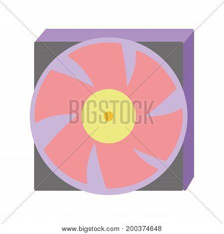 technology hard drive fan processor vector illustration