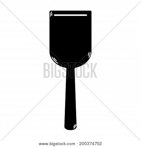 contour spatula kitchen utensil that used to cook vector illustration