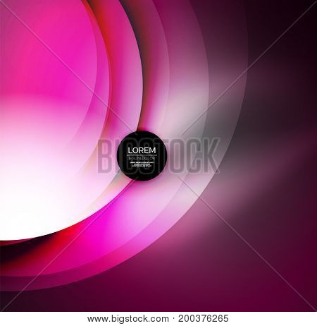 digital illustration, glowing waves and circles