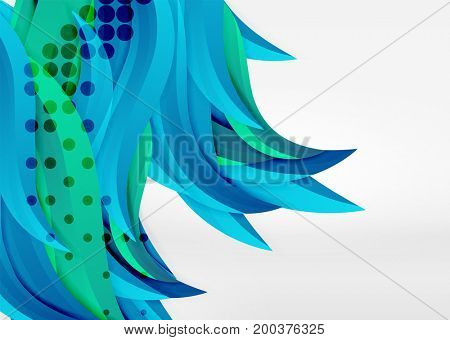 colorful wave lines in white and grey 3d space. Abstract background for your message, illustration - business or technology presentation wallpaper