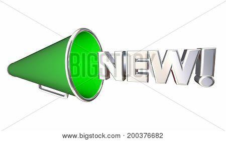 New Bullhorn Megaphone Update Announcement 3d Illustration