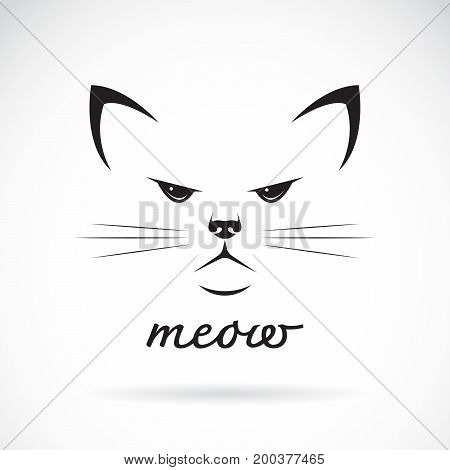 Vector of a cat face design on white background. Pet Animal.