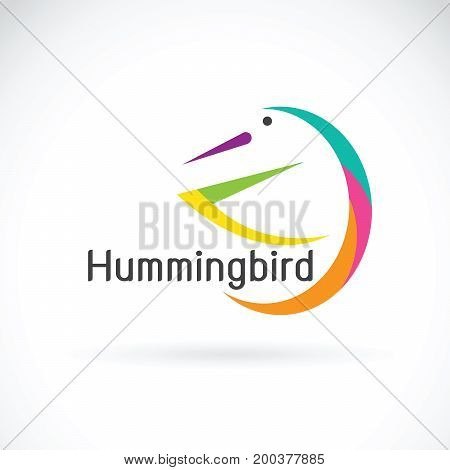 Vector of humming bird design on white background Bird Logo.