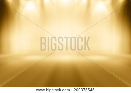 Soft light orange gradient room studio with spotlight backdrop wallpaper