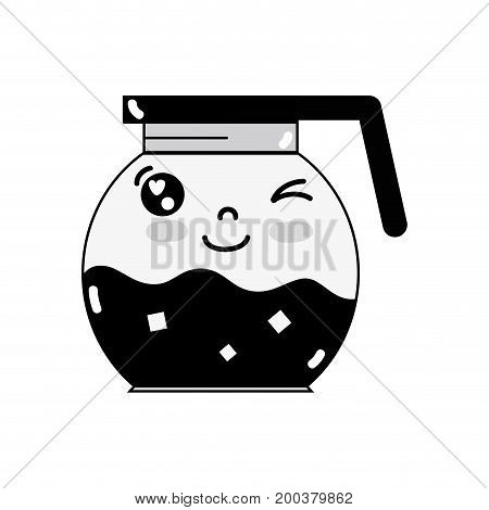 contour kawaii cute funny refreshness in the jar vector illustration