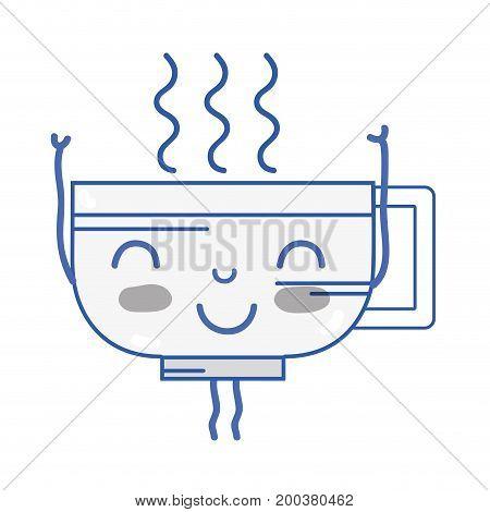 kawaii cute happy coffee cup vector illustration