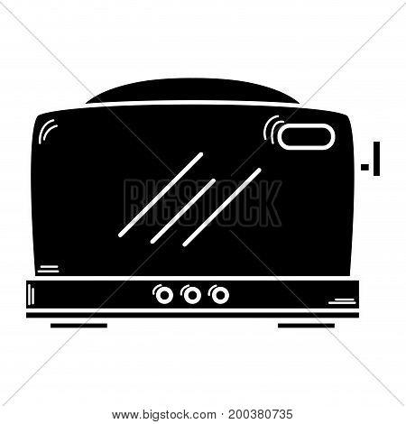 contour technology toaster electric kitchen utensil vector illustration
