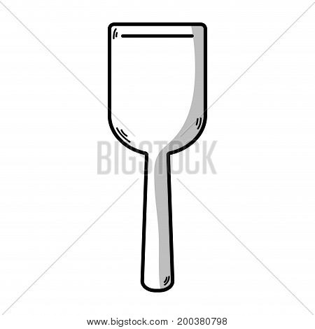 line spatula kitchen utensil that used to cook vector illustration