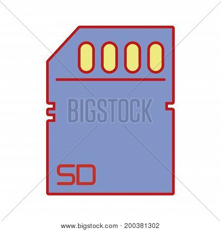 technology micro sd data memory vector illustration