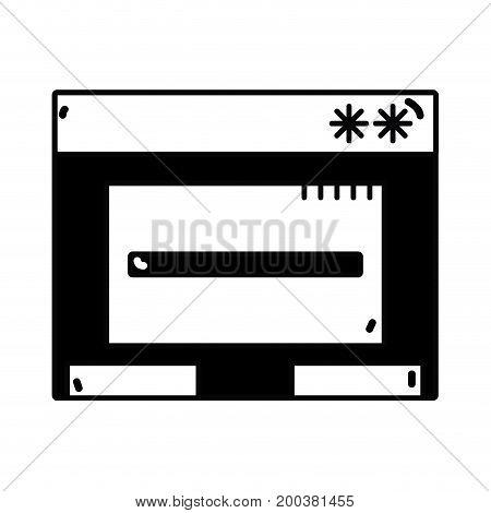 contour window web technology element design vector illustration