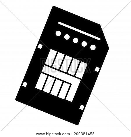 contour technology micro sd data memory vector illustration