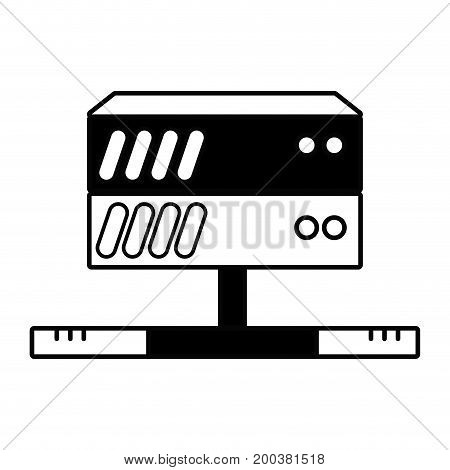contour database technology to conection server information vector illustration