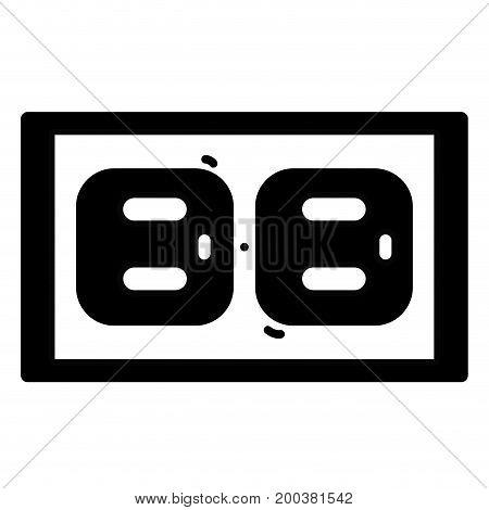 contour electric plug power technology connect vector illustration