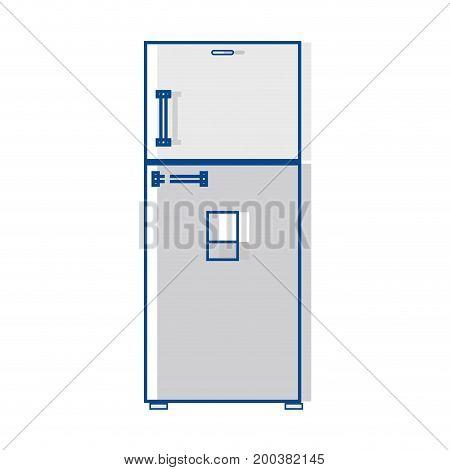 technology fridge electric kitchen utensil vector illustration