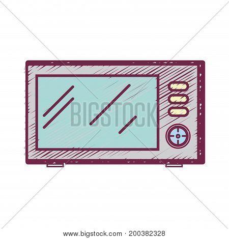 technology microwaves electric kitchen utensil vector illustration