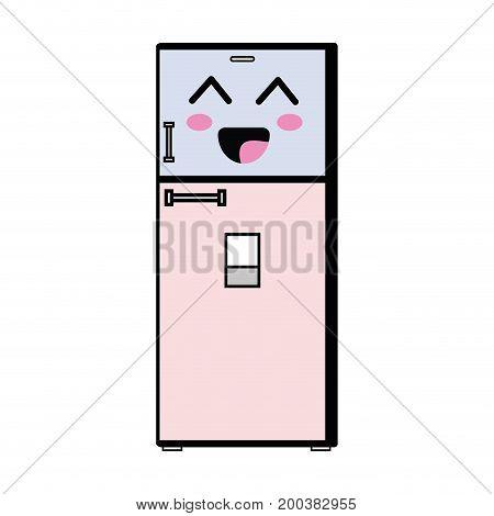 kawaii cute happy kitchen utensil vector illustration