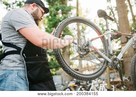 Bicycle mechanic repair bike, cycle workshop