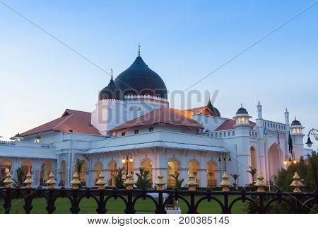 Kapitan Keling Mosque in Penang Malaysia .