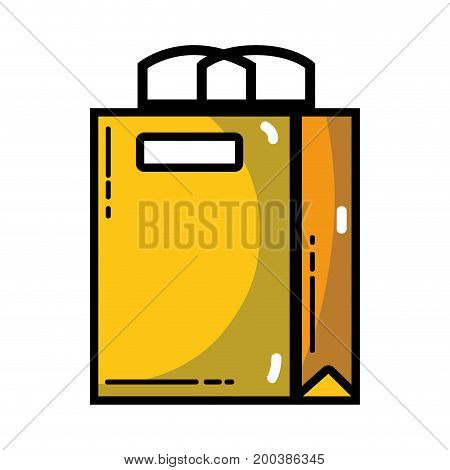 shopping bag to marketing strategy company vector illustration