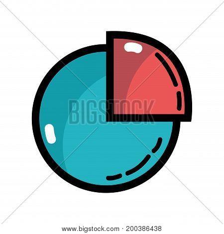 statistics diagram graphy to company inforation vector illustration
