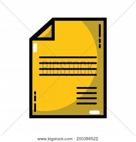 business document to marketing strategy information vector illustration