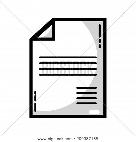 line business document to marketing strategy information vector illustration