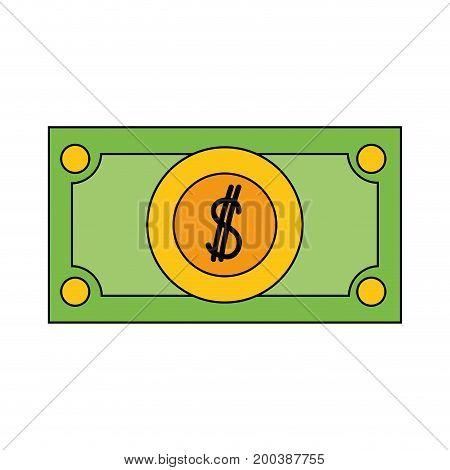 bill cash money and economy finance vector illustration