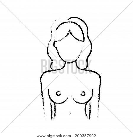 figure breast cancer prevention to medical treatment vector illustration