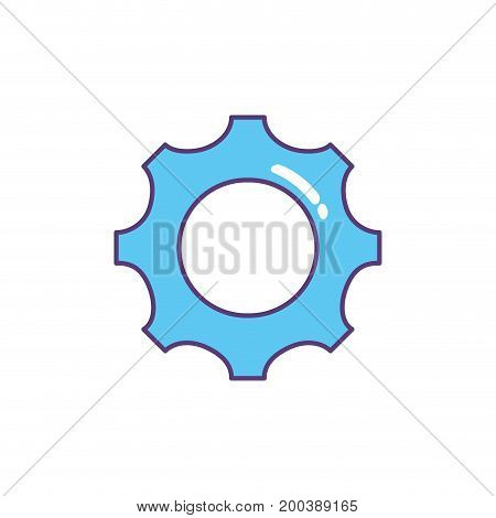 gear engineering industry process technology vector illustration