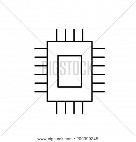 line, circuit data technology to center server vector illustration