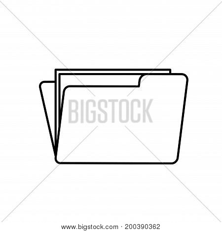 line folder file with important business documents vector illustration