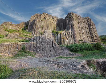 National Nature Monument Panska skala rock - Herrnhausfelsen - most famous geological nature reserve in Czech Republic
