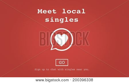 Meet Local Singles Dating Online Concept
