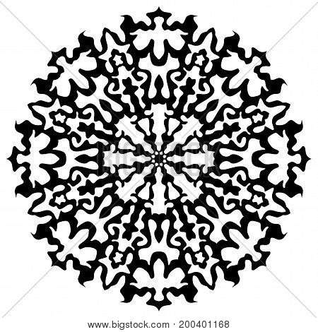 Black Snowflake Icon