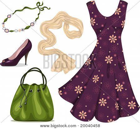 Romantic woman wardrobe