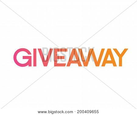 Colorful Gradient Serif Font Word Giveaway For Promotion