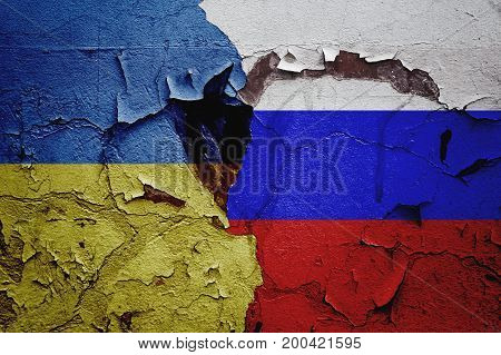 Russia and Ukraine, mutual relations between countries, abstract background of relations.