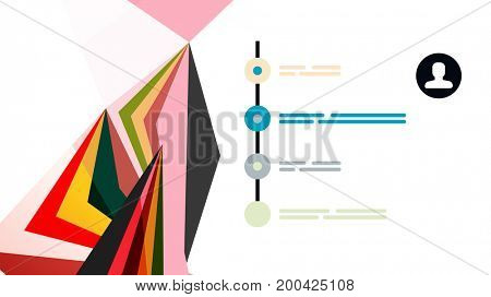 Modern triangle presentation template. Business design background, brochure or flyer concept or geometric web banner
