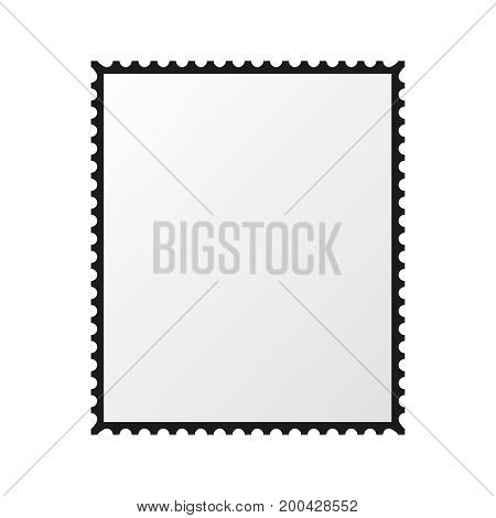 postage stamp vector  blank mockup  square  template post  border