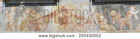 Frescoes On The Case Cazuffi-rella In Trento