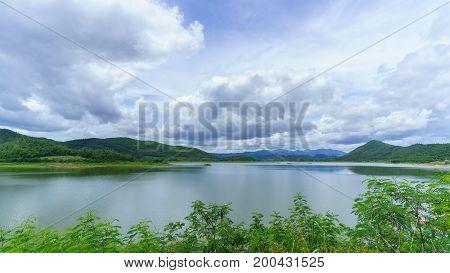 The reservoir at Ban Yang Chum Phetchaburi Thailand