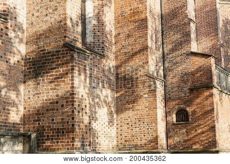 Detail of Cathedral Basilica of the Nativity of the Blessed Virgin Mary - Sandomierz Poland.