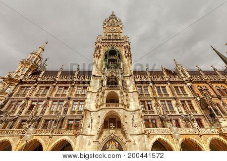 New Town Hall at Marienplatz in Munich. Germany. Bavaria.