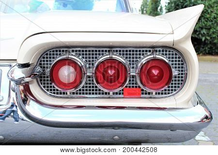 An Image of a classic car taillight - Hameln/Germany - 08/20/2017