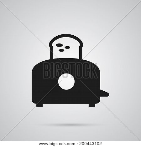 Vector Bread Heater  Element In Trendy Style.  Isolated Toaster Icon Symbol On Clean Background.