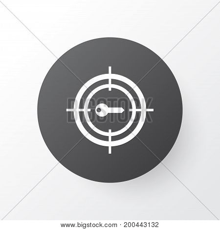 Premium Quality Isolated Keyword Marketing Element In Trendy Style.  Target Promotion Icon Symbol.