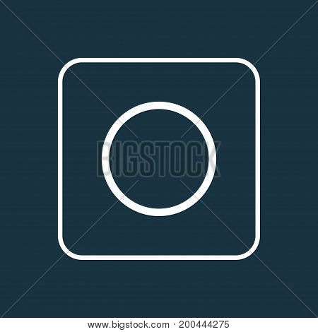 Premium Quality Isolated Circle Element In Trendy Style.  Record Outline Symbol.