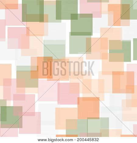 Abstract Squares Pattern. White Geometric Background. Good-looking Random Squares. Geometric Chaotic