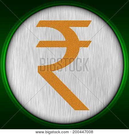 Decorative multicolor 3d illustration with Indian rupee sign
